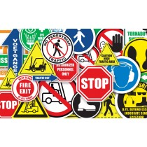 "Durastripe Octagon Sign - Stop, Arret, Alto 12"" SIGNS"