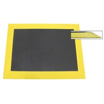 Ergomat XL Bubble Down with 3.5'' yellow bevels 4' x 8'